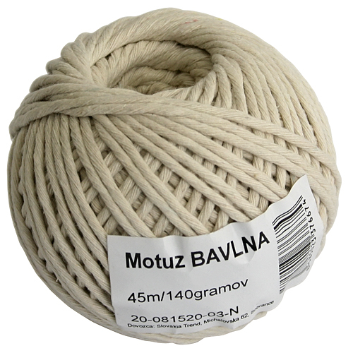 Motuz Cotton 045 m/70 g, bavlna, BallPack