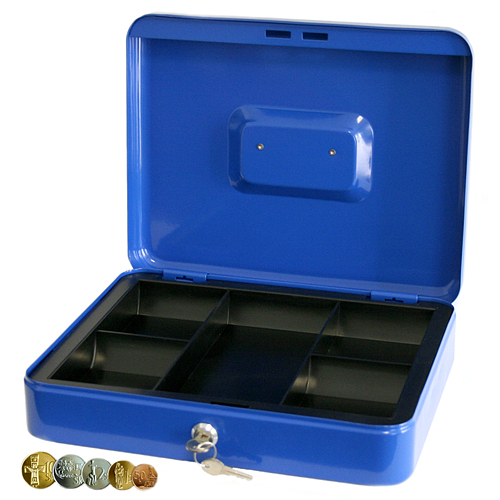 Skrinka CashBox, 250x180x90 mm, na peniaze