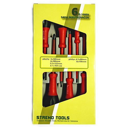 Sada skrutkovačov Strend Pro SD0104, 6 dielna, 1000 V, elektrikárska
