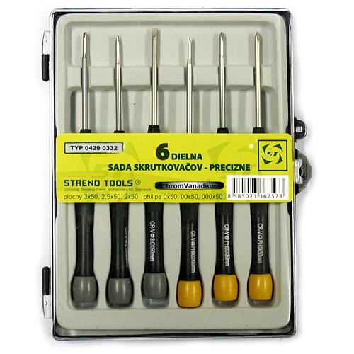 Sada skrutkovačov Strend Pro SD0332, 6 dielna, Precision, mini