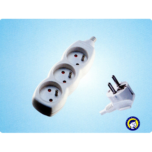 Kabel DG-F803B 05,00 m, 3 zásuvky