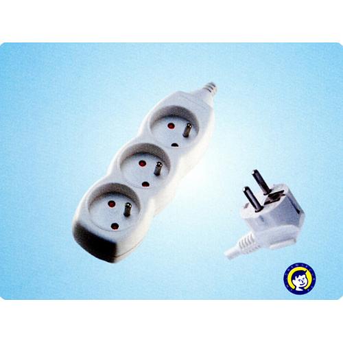 Kabel DG-F803B 07,00 m, 3 zásuvky