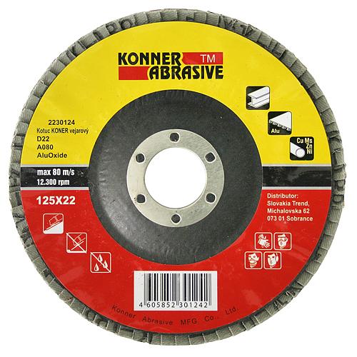 Kotuc KONER D22 115x22 mm, A100, AluOxide, vejarový, lamelový