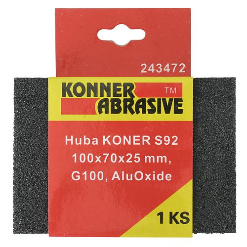 Huba KONER S92 100x70x25 mm, G080, AluOxide