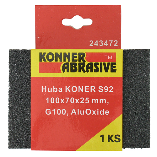 Huba KONER S92 100x70x25 mm, G100, AluOxide