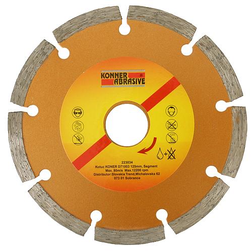 Kotuc diamantový KONER D71003 115 mm, Segment