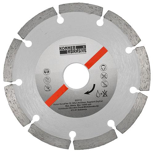 Kotuc diamantový KonaFlex 72 115x1,9x22 mm, Segment DryCut, suché rezanie