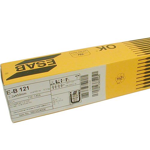 Elektrody ESAB EB 121 5,0/450 mm, 6.5 kg, 70 ks, 3 bal.