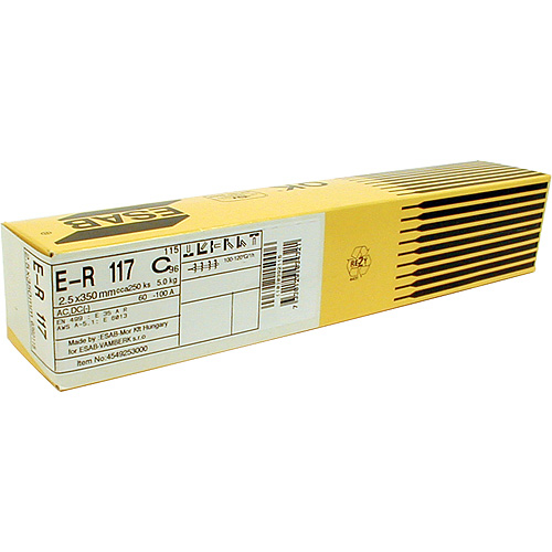 Elektrody ESAB ER 117 2,5/350 mm • 5.0 kg, 253 ks, 3 bal.