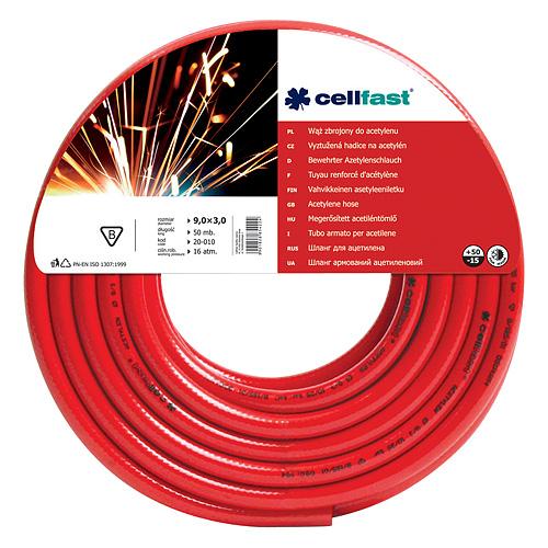 Hadica Cellfast 20-010, Acetylene 9,0x3,0 mm, L-50 m