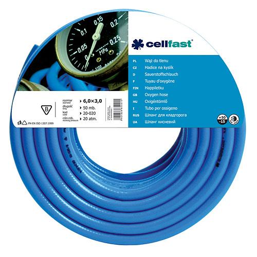 Hadica Cellfast 20-020, Oxygen 6,0x3,0 mm, L-50 m