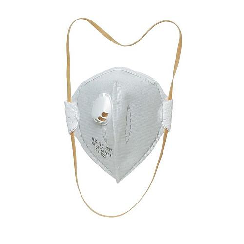 Respirator REFIL 731, EN 149+A1 FFP2 NR, s ventilčekom, bal. 15 ks
