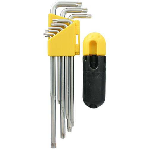 Sada kľúčov Strend Pro HK7008, 9 dielna, Torx, Cr-V, zástrčná