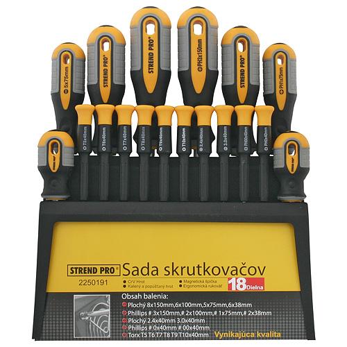 Sada skrutkovačov Strend Pro SDX72-118, 18 dielna