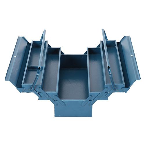 Kufor TB101E, na náradie, 530x200x210 5 dielny, plechový