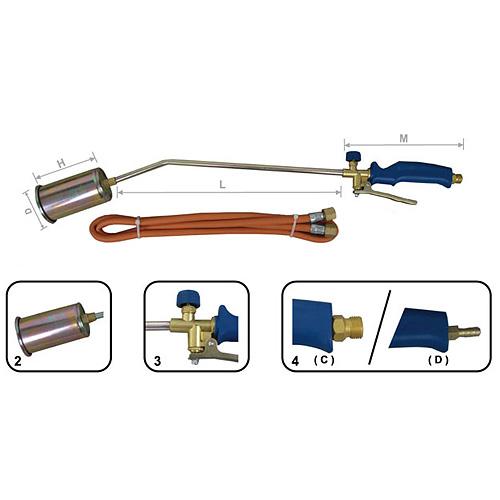 Horak Strend Pro H514, 550 mm, 60 mm, opaľovací + hadica 1.5 m