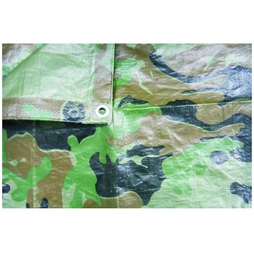 Plachta Tarpaulin Khaki 02,0x04,0 m, 80 g/m, prekrývacia, oliva/kamufláž