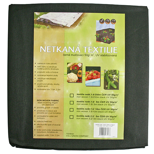 Textilia Garden B1303 1,6x05 m, netkaná, 50 g/m, čierna