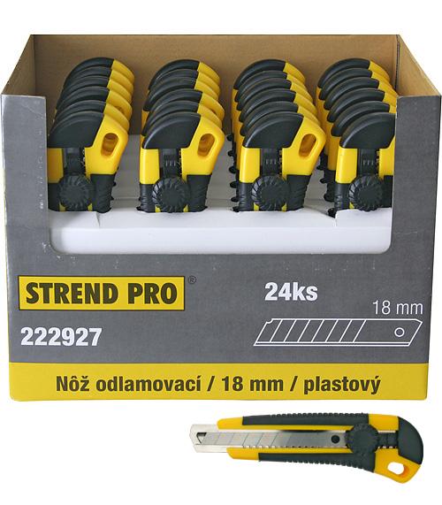 Noz STREND PRO UKBOX-85, 18 mm, odlamovací, plastový, Sellbox 24 ks