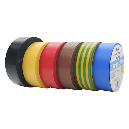 Paska E180YEL, žltá, izolačná 19 mm, L-10 m, PVC