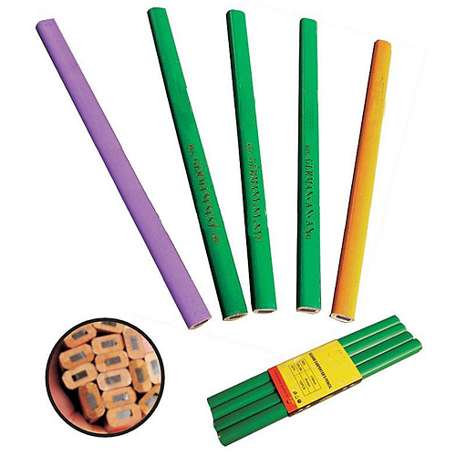 Ceruzka Strend Pro CP0655, tesárska, 180 mm, hranatá, čierna, bal.12ks