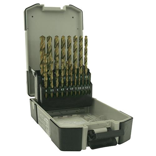 Sada vrtak STREND PRO Premium M2, do kovu, 19 diena, 1-10 mm, HSS, DIN-338