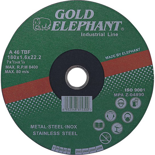 Kotuc Gold Elephant 41AA 125x1,6x22,2 mm, kov, oceľ, inox, nerez A46TBF