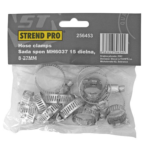 Sada spon Strend Pro HC515, 15 dielna, na hadicu, 8-27 mm