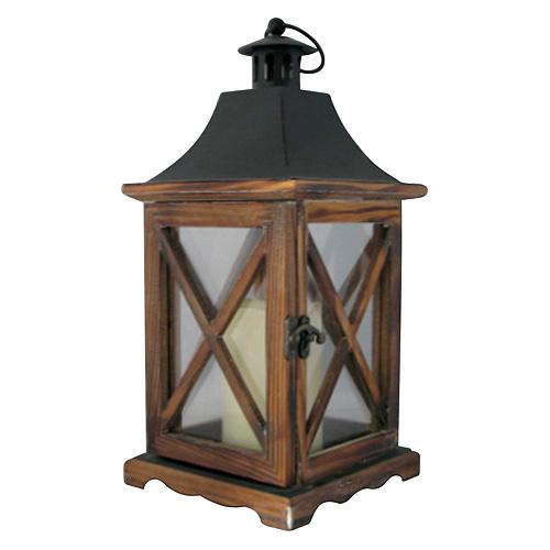 Lampas Nicehome WL8834, 16x16x35 cm, LED, 3xAAA, drevo