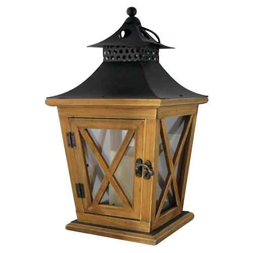 Lampas Nicehome WL8680, 19x19x36 cm, LED, 3xAAA, drevo