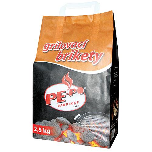 Brikety PE-PO® Gril 2.5 kg, na grilovanie