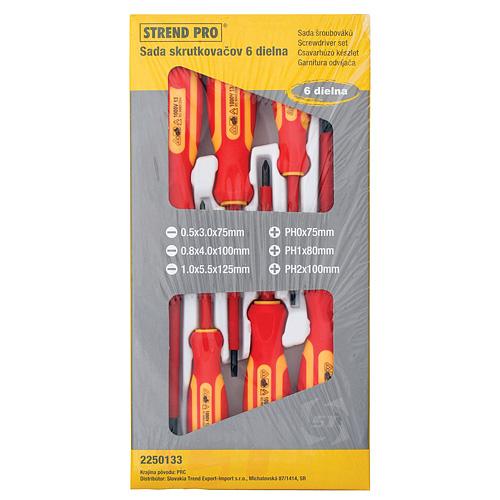 Sada skrutkovačov Strend Pro SD0118, 6 dielna, VDE, Cr-V, elektrikárska