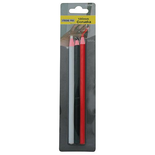 Sada ceruziek Vinnon 0120, značkovacích, čierna/biela/červená