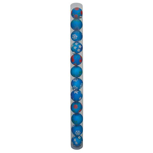 Ozdoba Xmas N4B 6012, 12 dielna, M021 modrá
