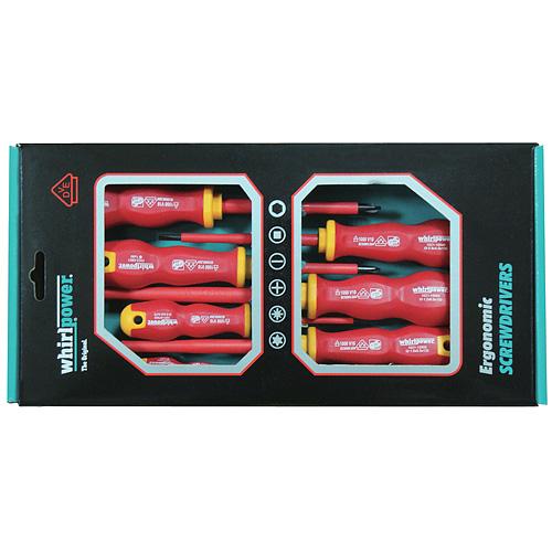 Sada skrutkovačov whirlpower® 102-105, 5 dielna, VDE 1000, Ergonomic