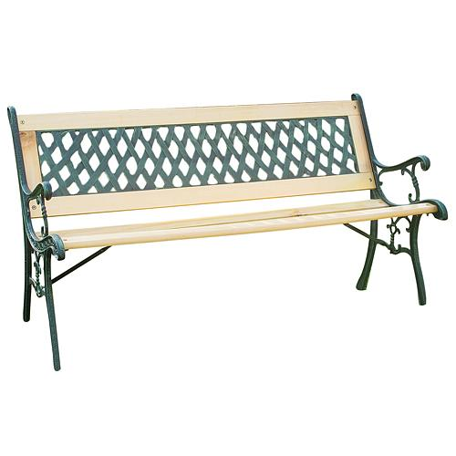 Lavicka záhradná GODIVA, 122x54x73 cm, drevo/plast