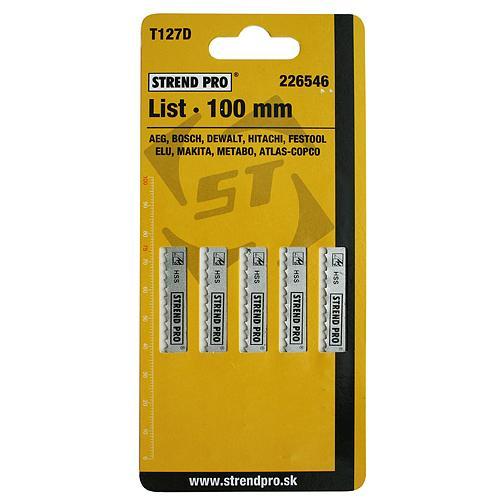 List do priamočiarej píly STREND PRO T127D 100 mm, 8z, kov, bal. 5 ks