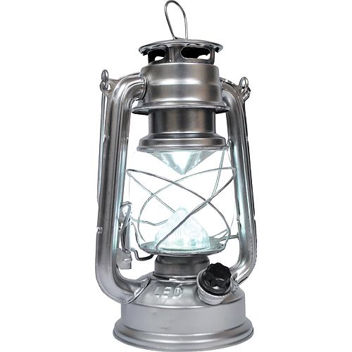 Lampas Nicehome ML3528, 15 LED, 15x11.5x23.5 cm, 4xAA, kov, strieborný