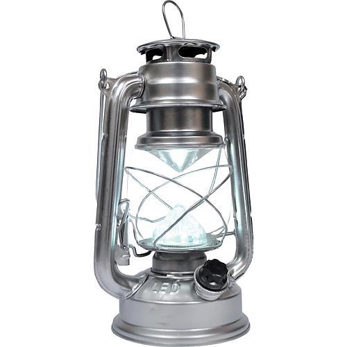 Lampas MagicHome ML3528, 15 LED, 15x11.5x23.5 cm, 4xAA, kov, strieborný