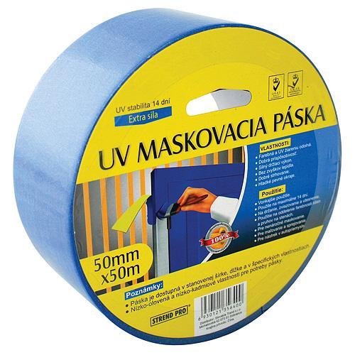 Paska KL-SMV-02 50 mm, L-50 m, maskovacia, modrá, U.V.7-17 d