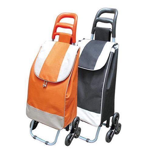 Vozik Alfred, oranžový, PE/PVC, EVA, 30 kg, 35x30x96 cm