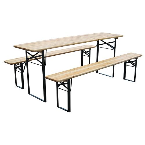 Set pivny DORTMUND Max, stôl 220x70x77 cm, 2x lavica 220x25x47 cm, drevo 27 mm
