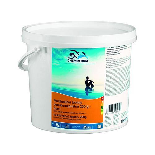 Tablety Chemoform 0507, 200 g, multifunkčné, pomalorozpustné, bal. 1 kg