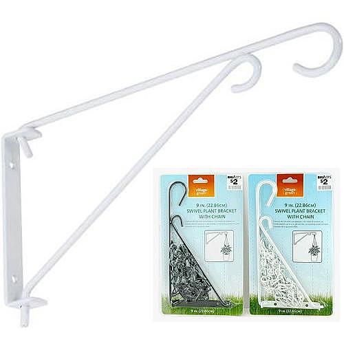 Vesiak Strend Pro PB8021A, držiak na kvetináč, biely, kovový