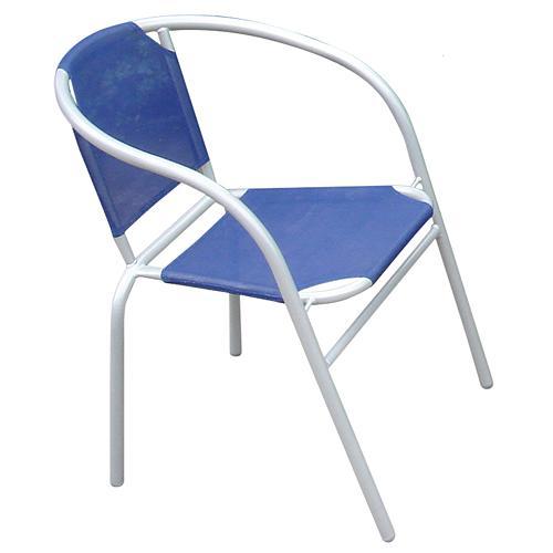 Stolicka BRENDA, modrá, 60x71 cm