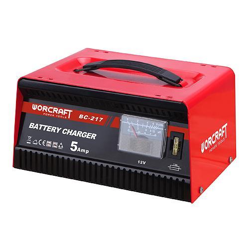 Nabijacka Worcraft BC-217, 12V/230V, 5A, na autobatérie