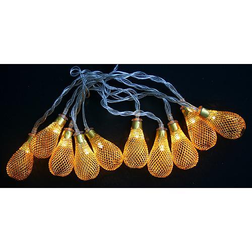Retaz MagicHome Lantern Ball, zlatá, 2xAA