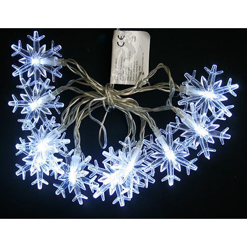 Retaz MagicHome SnowFlake, 90 cm, 10xLED biela, 2xAA