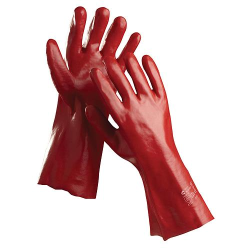 Rukavice REDSTART 10, 35 cm, povlak PVC
