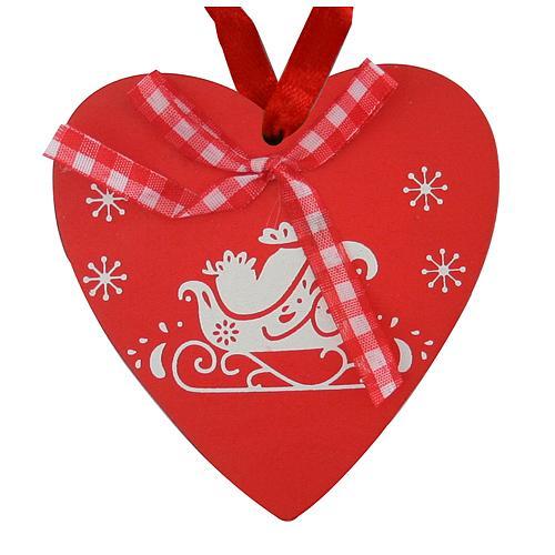 Ozdoba MagicHome XO031R/A, Srdce červené, 10cm, bal. 5 ks